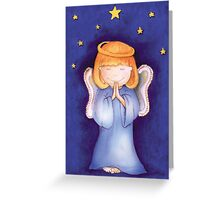 Christmas praying Angel Greeting Card