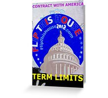 Contract With America; Term Limits Greeting Card