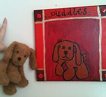 Puddles - I can paint your childs favorite toy on canvas by NikiJ
