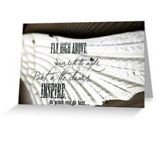 Inspire - Message to Heaven Greeting Card
