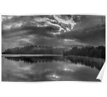 Embers Of Our Souls - Narrabeen Lakes (B&W)  - The HDR Experience Poster