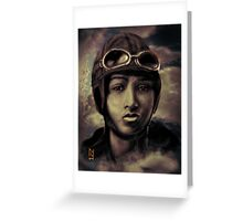 BESSIE COLEMAN ;ON A WING AND A PRAYER ! Greeting Card