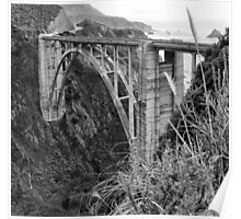 The Famous Bixby Bridge in Black and White Poster