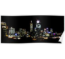 Kings Park View at Night  Poster