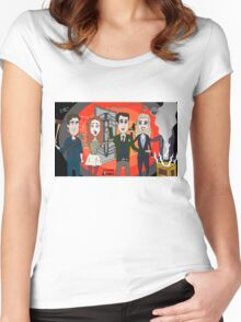 The Librarians as Live Looney Tunes from Raiders of the Lost Ark in the Twilight Zone Women's Fitted Scoop T-Shirt