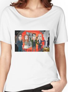 The Librarians as Live Looney Tunes from Raiders of the Lost Ark in the Twilight Zone Women's Relaxed Fit T-Shirt