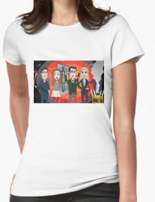 The Librarians as Live Looney Tunes from Raiders of the Lost Ark in the Twilight Zone Womens Fitted T-Shirt