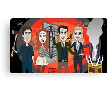 The Librarians as Live Looney Tunes from Raiders of the Lost Ark in the Twilight Zone Canvas Print