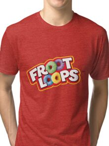 Froot Loops logo Tri-blend T-Shirt