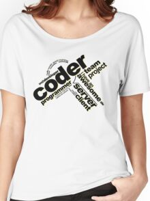 Programmer - Typography Coder Women's Relaxed Fit T-Shirt