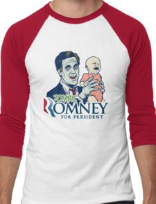 Zombie Romney For President Men's Baseball ¾ T-Shirt