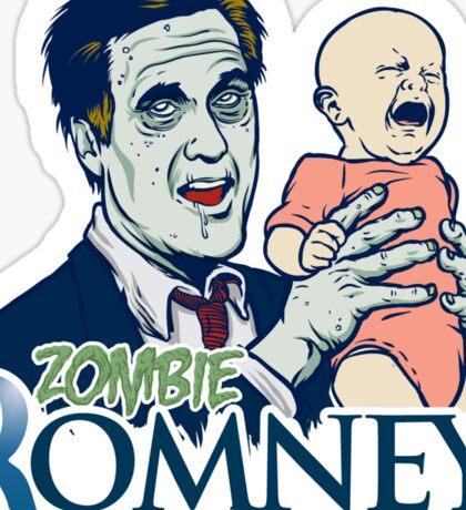 Zombie Romney For President Sticker