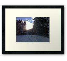 Sunset on the Piste Framed Print