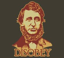 Henry David Thoreau Disobey by LibertyManiacs