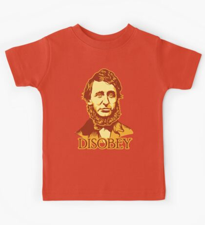 Henry David Thoreau Disobey Kids Tee