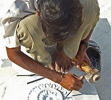 Marble craftsman, Ghanerao, Rajasthan by jphenfrey
