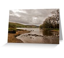 Looking Down Semer Water Greeting Card