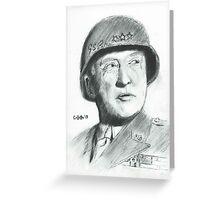 George Patton Greeting Card