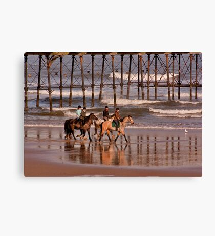 Racing the Tide Canvas Print