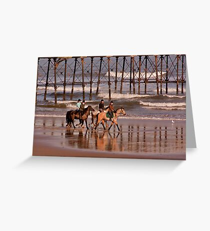 Racing the Tide Greeting Card