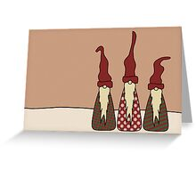 Three Wise Elves Greeting Card