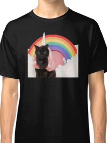 Unicorn Rainbow Cat Kitten Grumpy Classic T-Shirt