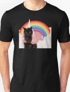 Unicorn Rainbow Cat Kitten Grumpy T-Shirt