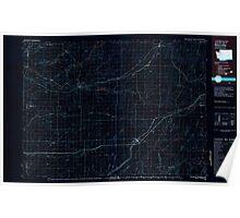 USGS Topo Map Washington State WA Ritzville 243475 1982 100000 Inverted Poster