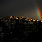 Rainbow over Kastoria City by Tania Koleska