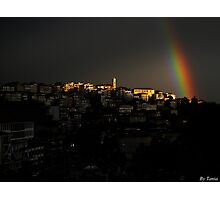 Rainbow over Kastoria City Photographic Print
