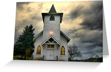 Spencer Creek Historic Church by Charles & Patricia   Harkins ~ Picture Oregon