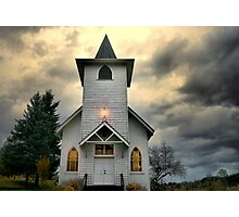 Spencer Creek Historic Church Photographic Print