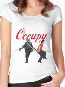 occupy Women's Fitted Scoop T-Shirt