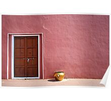 Pink Wall,Door & The Golden Pot ! Poster