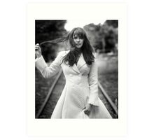 Amanda Tapping in White Art Print
