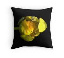Water Lily Bud Throw Pillow