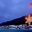 Christmas-lights at Weissensee - Austria by Arie Koene