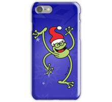 Merry Christmas Frog iPhone Case/Skin