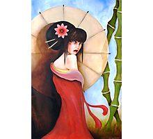 Geisha with umbrella Photographic Print