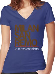 milan-san remo Women's Fitted V-Neck T-Shirt