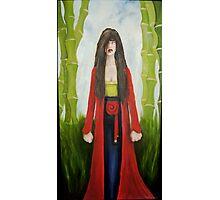 geisha with bamboo Photographic Print