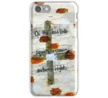 Basho - On the dead limb iPhone Case/Skin