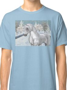 Winter Snow .. the tale of a wild horse Classic T-Shirt