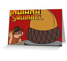 Indiana Squirrel Greeting Card