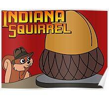 Indiana Squirrel Poster