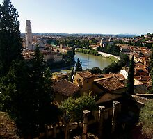 A View from Roman Theater, Verona by Michiko Lawrence