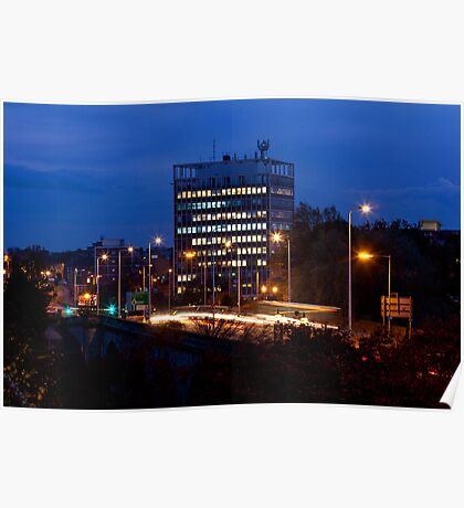 Carlisle Civic Centre at Dusk Poster