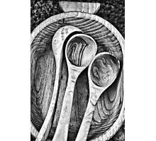 Wooden ladles Photographic Print