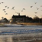 Narragansett Towers Morning Walk by John McNamara