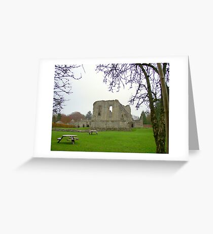 Buildwas Abbey Telford Shropshire. Greeting Card